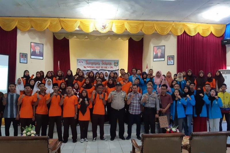 Pelajar dan mahasiswa di Tanjungpinang deklarasi tolak radikalisme