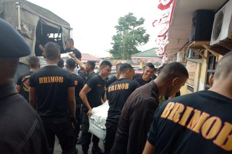 Dua SSK Brimob Malut-Gorontalo diterjunkan di Timika