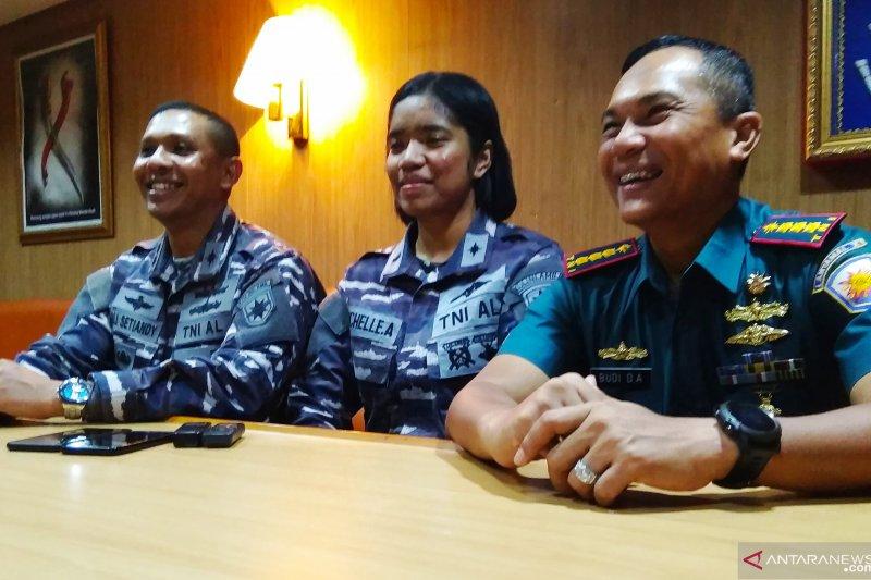 Letda Michelle, Taruni asal Papua bertugas di kapal perang