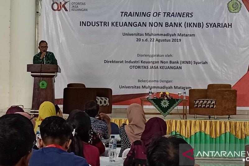 OJK melatih dosen NTB tentang industri keuangan nonbank syariah