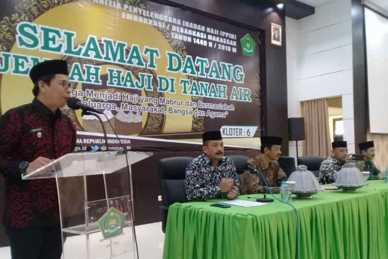 Jamaah haji kloter 6 tiba lebih awal di Makassar