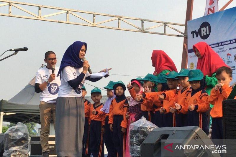 800-an anak TK meriahkan HUT TVRI Riau