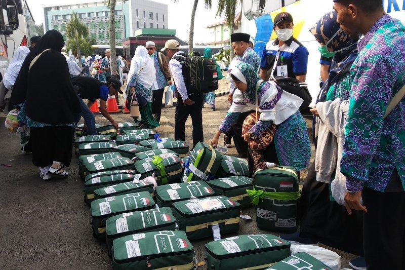 339 haji Kloter 9 Provinsi Lampung tiba di asrama haji