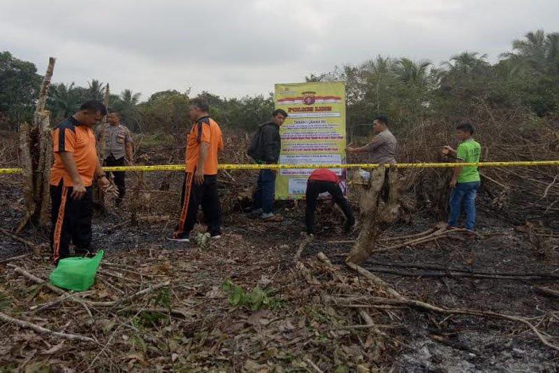 Polisi amankan lima pelaku diduga bakar lahan
