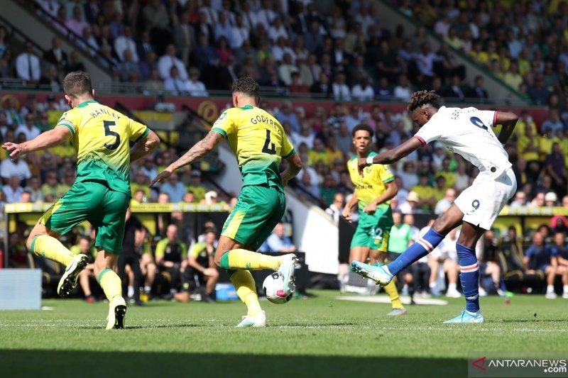 Liga Inggris -- Chelsea raih kemenangan perdana usai tundukkan Norwich 3-2