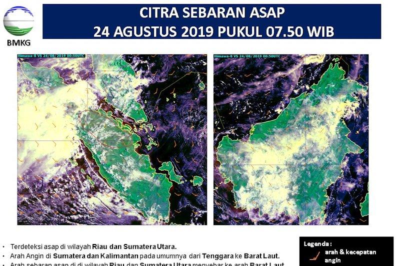 """584 titik panas indikasi Karhutla """"kepung"""" Sumatera, Riau terbanyak"""