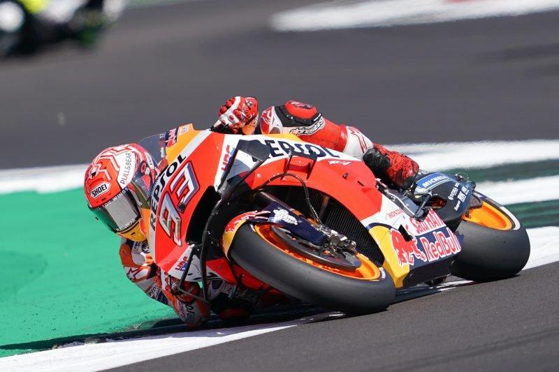 Rossi digagalkan Marquez rebut pole position di Silverstone