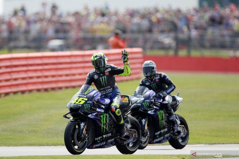 Valentino Rossi beberkan alasannya  gagal amankan podium di Silverstone