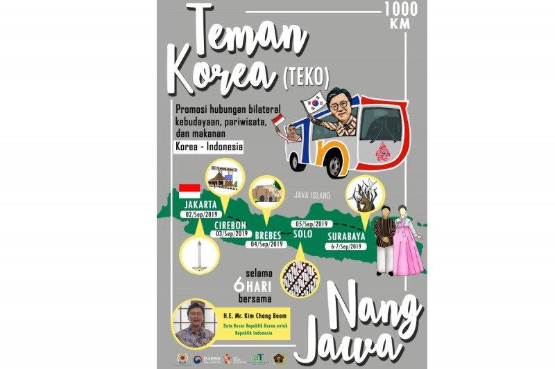 Teko nang jawa tur promosi budaya Korsel lewat jalur darat