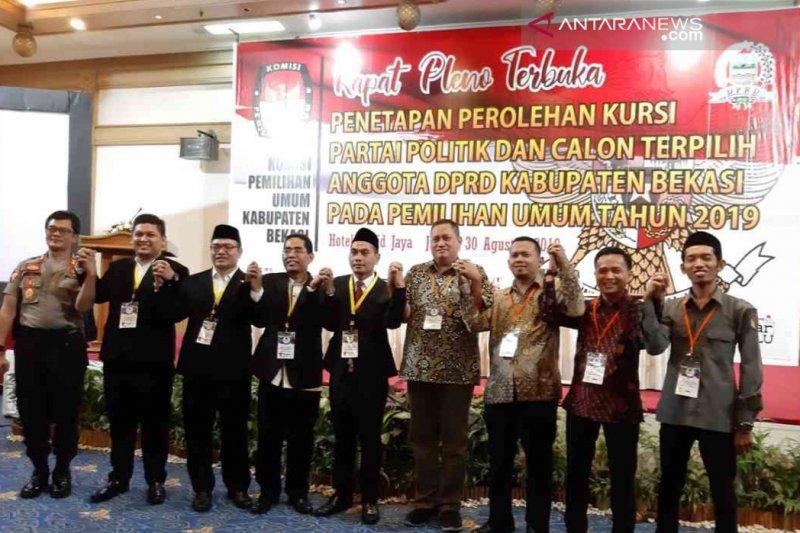 KPU Kabupaten Bekasi tetapkan 50 anggota DPRD terpilih