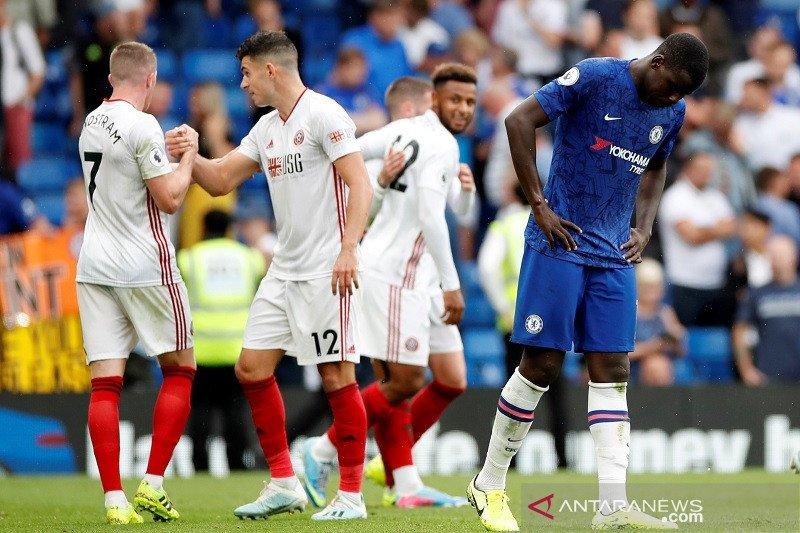 Chelsea ditahan  imbang Sheffield akibat gol bunuh diri Zouma