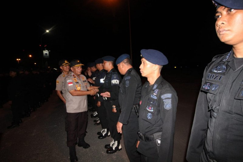 252 personel Brimob Polda Kepri bantu pengamanan unjuk rasa di Papua