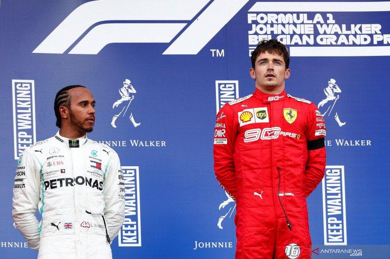 Kemenangan Leclerc akhiri puasa kemenangan Ferrari di Sirkuit Spa-Francorchamps