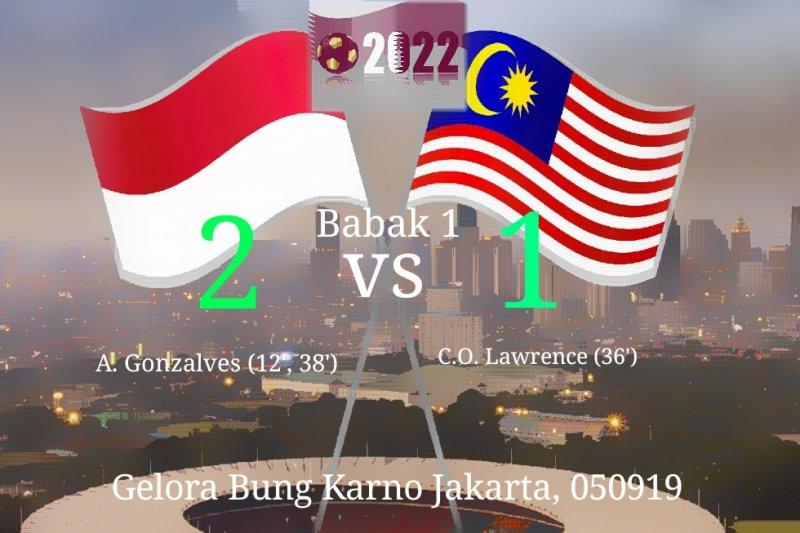 Indonesia sementara unggul 2-1 atas Malaysia