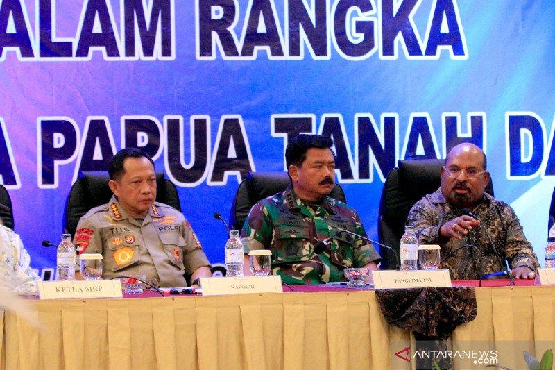 Papua terkini - Panglima TNI dan Kapolri bertemu tokoh lintas agama di Papua