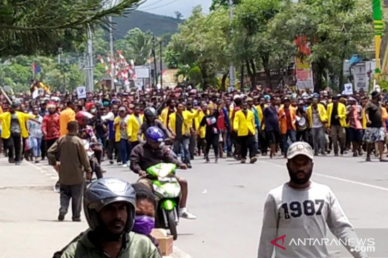 Sejumlah wartawan Jayapura mengaku terintimidasi saat liput demo anarkis