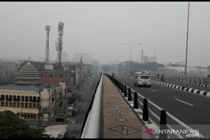 Karhutla Riau - 154 titik panas di Riau, kualitas udara Pekanbaru terburuk selama tahun ini