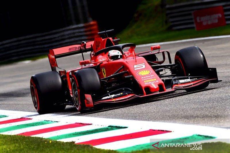 Vettel catatkan waktu tercepat pada sesi latihan bebas ketiga di Monza