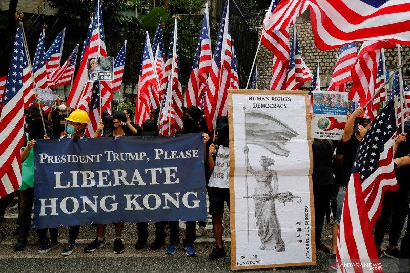 Ada Trump di demonstrasi Hong Kong