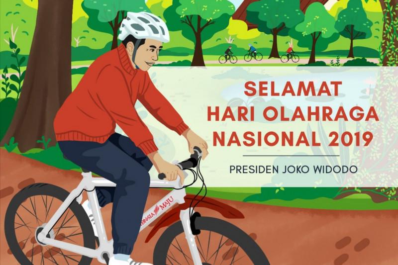 Presiden Jokowi menyampaikan ucapan Selamat Haornas 2019