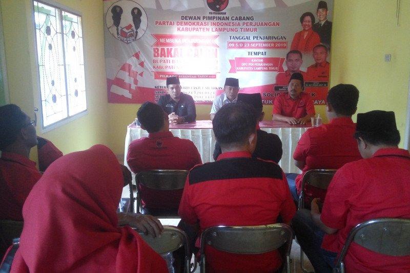 DPC PDIP Lampung Timur beri kesempatan kadernya maju pilkada