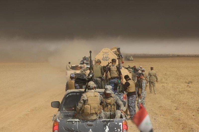"""Drone"" tak dikenal di Irak Timur ditembak jatuh Hasdh Ash-Shaabi"