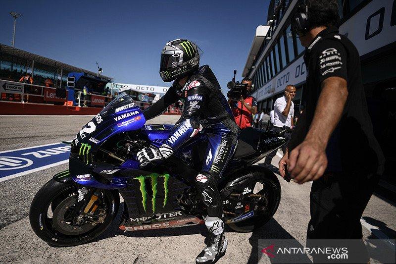 Tiga Yamaha finis teratas FP2 GP Aragon, Marquez terjatuh di tikungan