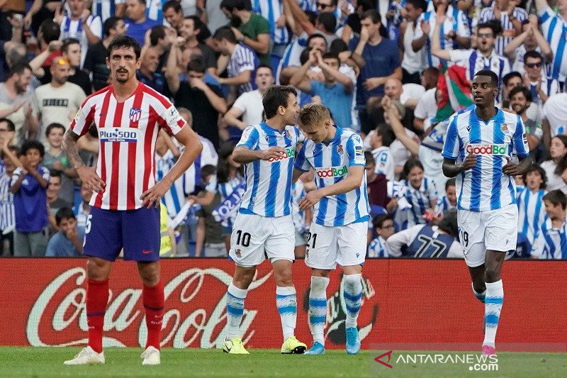 Atletico Madrid tumbang di markas Sociedad