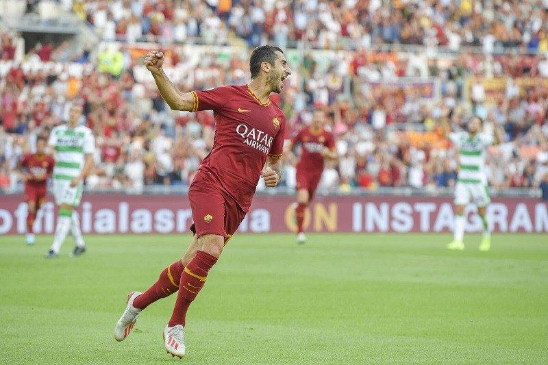 Mkhitaryan cetak gol di debutnya di Roma dan raih kemenangan perdana