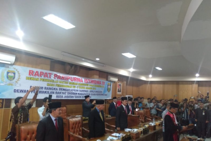 Tiga unsur pimpinan definitif DPRD Ogan Komering Ulu  resmi dilantik