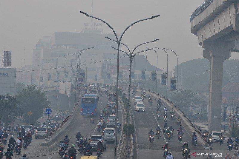 BMKG nyatakan kualitas udara Palembang di level berbahaya