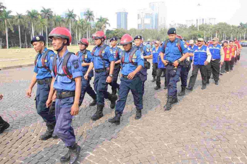 Karhutla Riau - Gubernur Anies kirim 65 Satgas Karhutla ke Riau