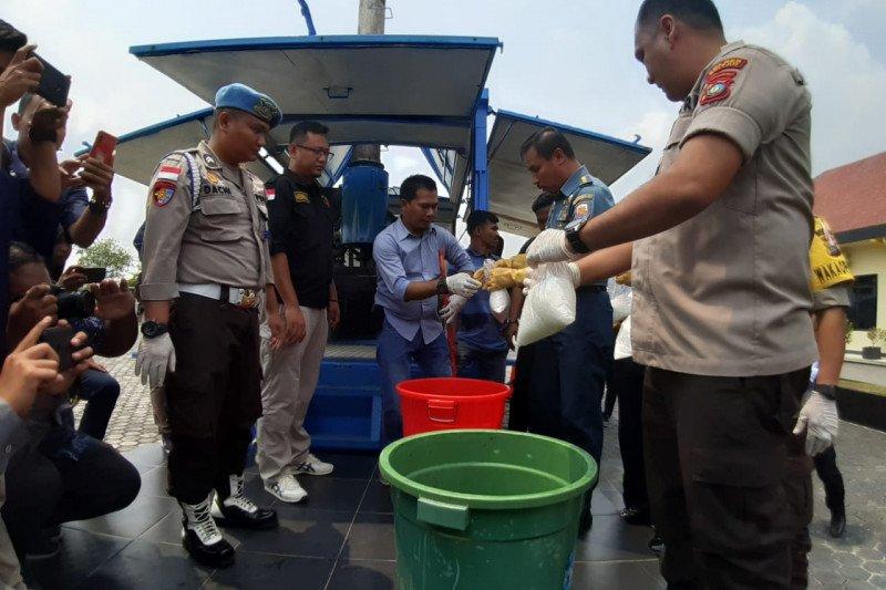 Polres Bintan musnahkan barang bukti Narkotika sabu 114,7 kg