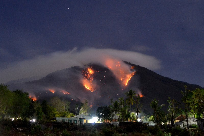 Gunung Ile Mandiri terkena dampak Karhutla
