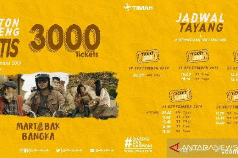 PT Timah membagikan 3.000 tiket nobar Flim Martabak Bangka