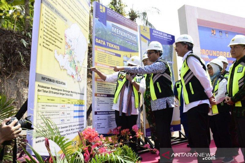 Gubernur NTB letakan batu pertama pembangunan Bendungan Meninting