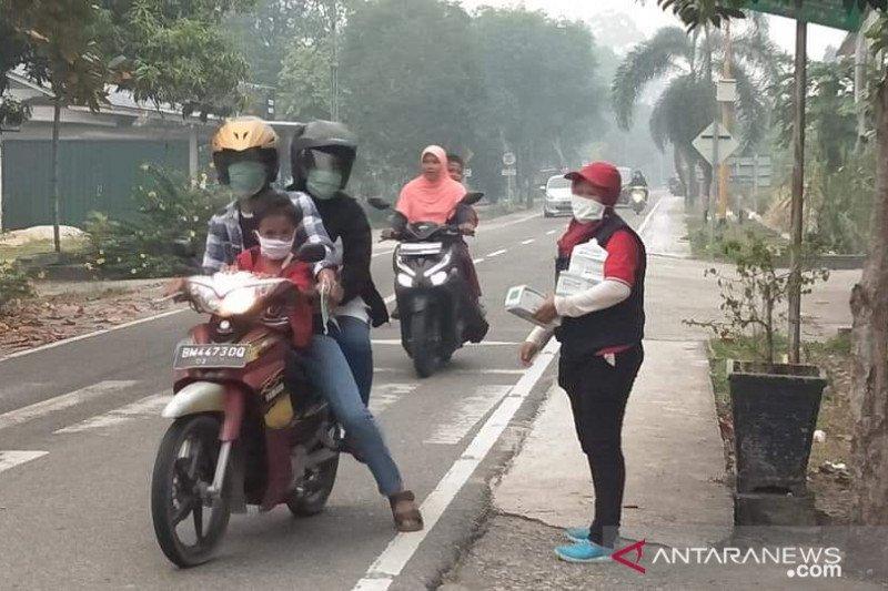 PMI Riau bagikan 70 ribu masker untuk warga terdampak asap