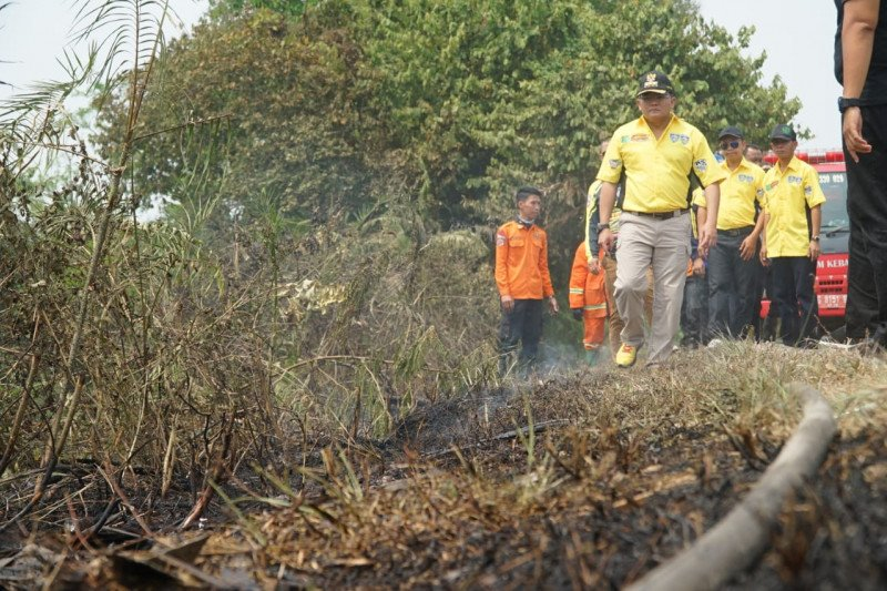 Four people named suspects in land and forest fires in South Sumatra