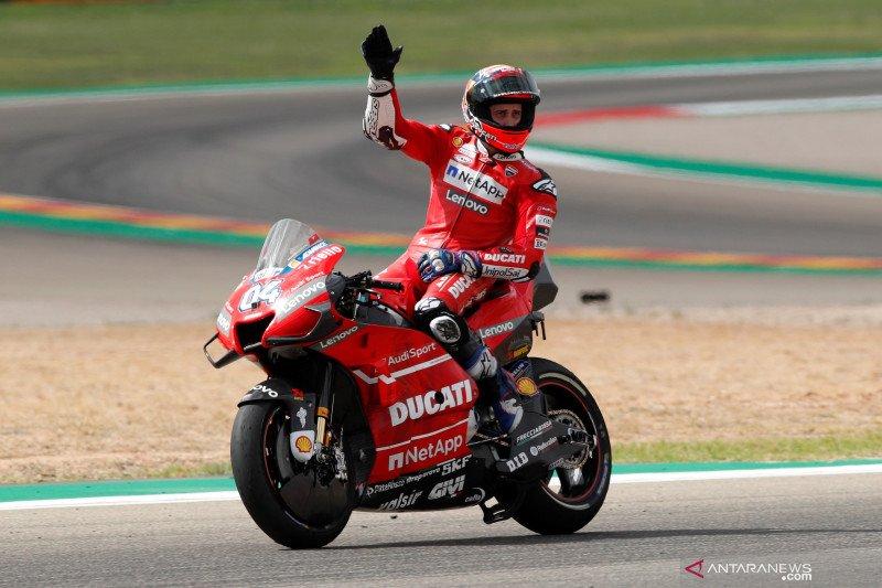 Dovizioso dan Miller ungkap rahasia finis podium Ducati di Aragon