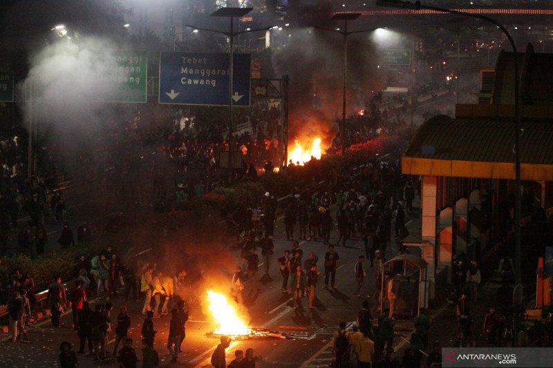 Tujuh perusuh demonstrasi positif narkoba sudah diamankan polisi