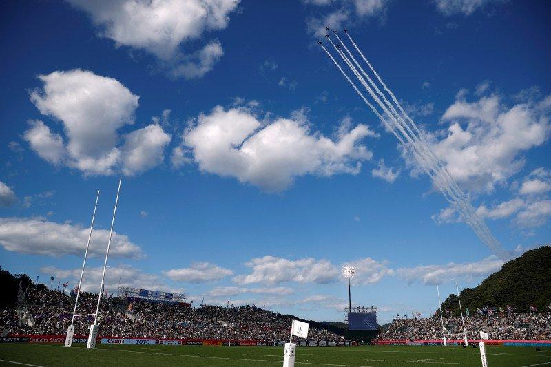 Topan Hagibis landa Jepang, Laga Inggris vs Prancis dan Selandia Baru vs Italia dipastikan batal