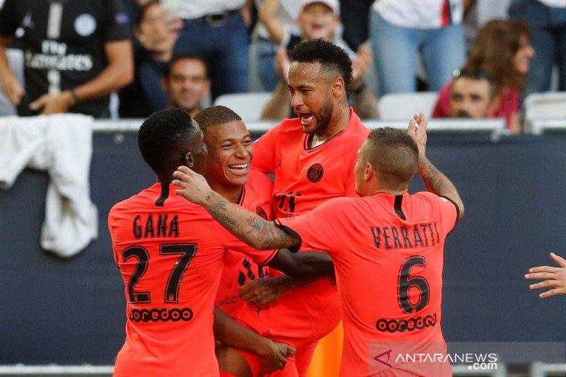 Mbappe, Neymar bahu-membahu menangkan PSG atas Bordeaux