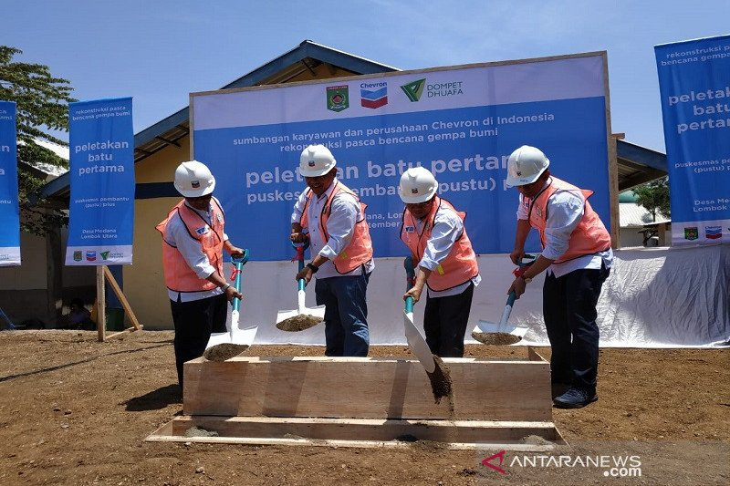 Chevron bangun fasilitas kesehatan di Lombok pascagempa bumi