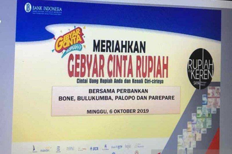 Bank Indonesia  Sulsel gelar Gebyar Cinta Rupiah di empat daerah
