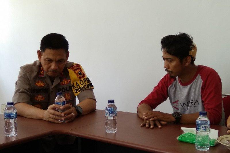 Tiga jurnalis korban kekerasan di Makassar diperiksa lima jam