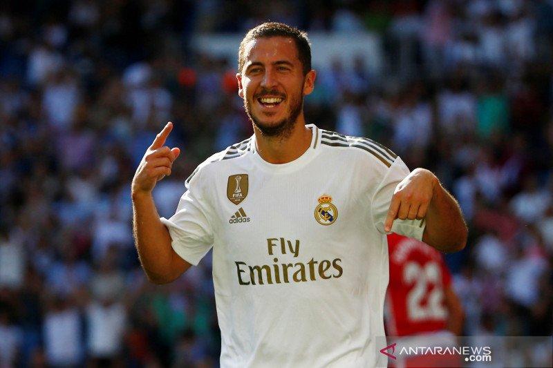 Mewarisi nomor 7 Real Madrid, Hazard mengaku tantangan besar baginya