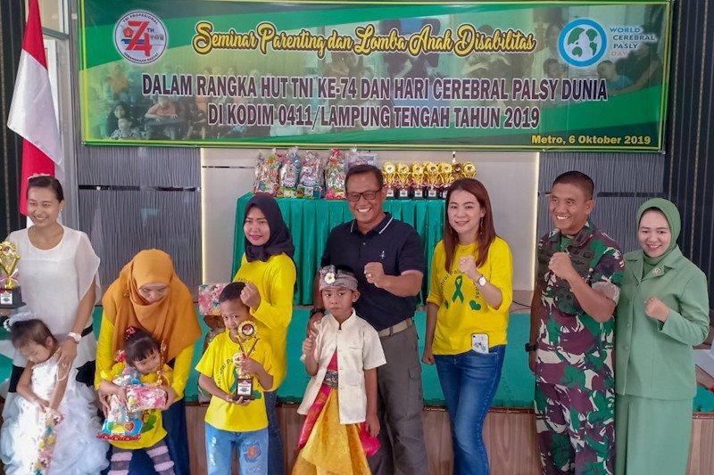 300 anak disabilitas ikut perlombaan yang digelar Kodim