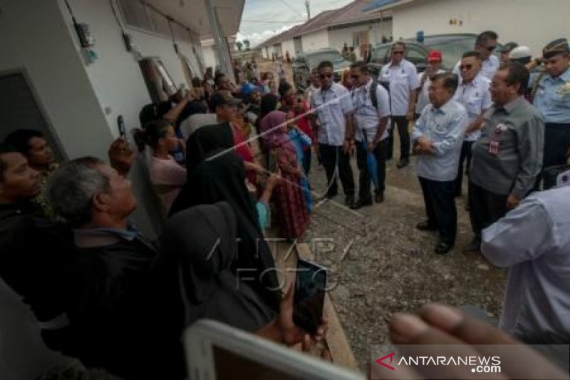JK tinjau perkembangan pemulihan pascabencana di Kota Palu