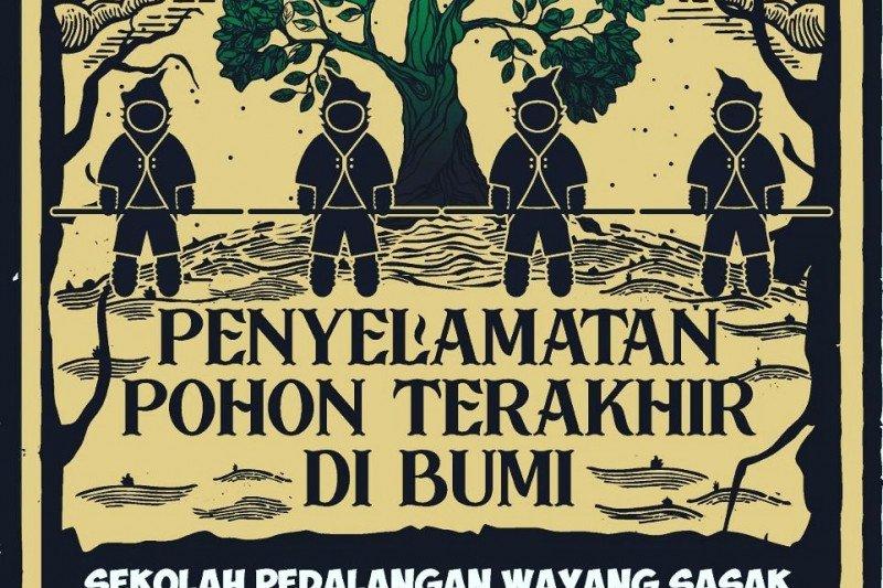 Kisah penyelamatan pohon terakhir di bumi lewat wayang botol