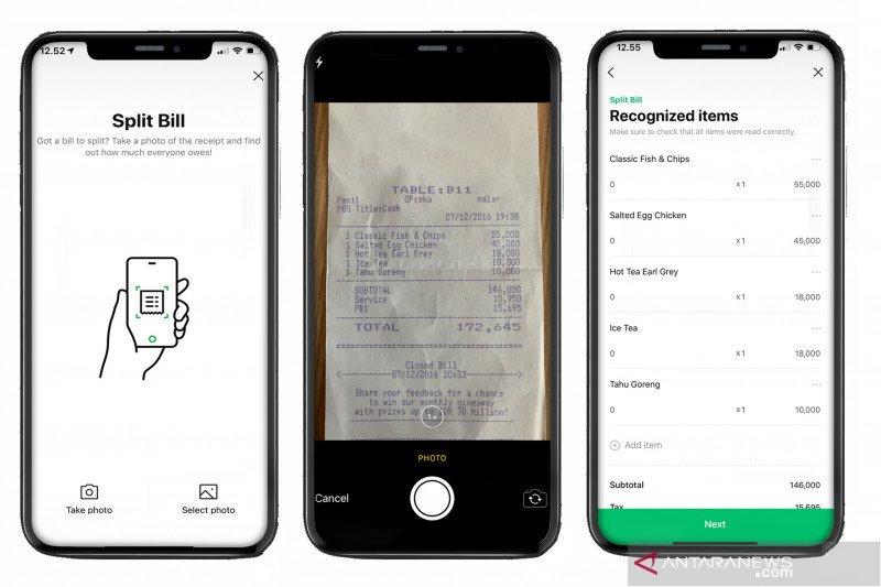 Cara gunakan fitur berbagi tagihan SPLITBILL pada Line